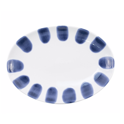 Vietri Santorini Dot Small Oval Platter
