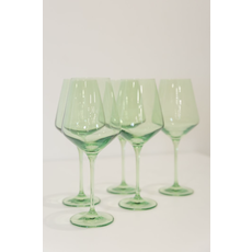 Estelle ESTELLE COLORED WINE STEMWARE - SET OF 6 {MINT GREEN}