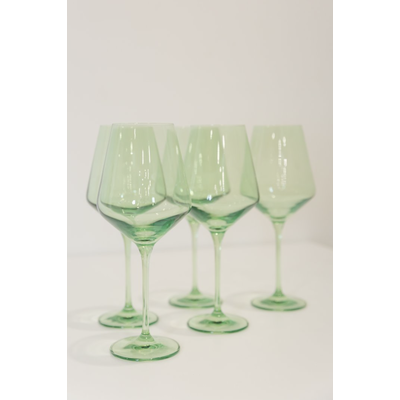 Estelle ESTELLE COLORED WINE STEMWARE - SET OF 6 {MINT GREEN}