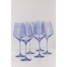 Estelle Estelle Colored Wine Stemware- Cobalt Blue Set of 6