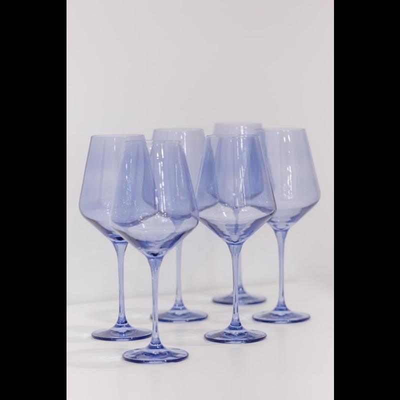 Estelle ESTELLE COLORED WINE STEMWARE - SET OF 6 {COBALT BLUE}