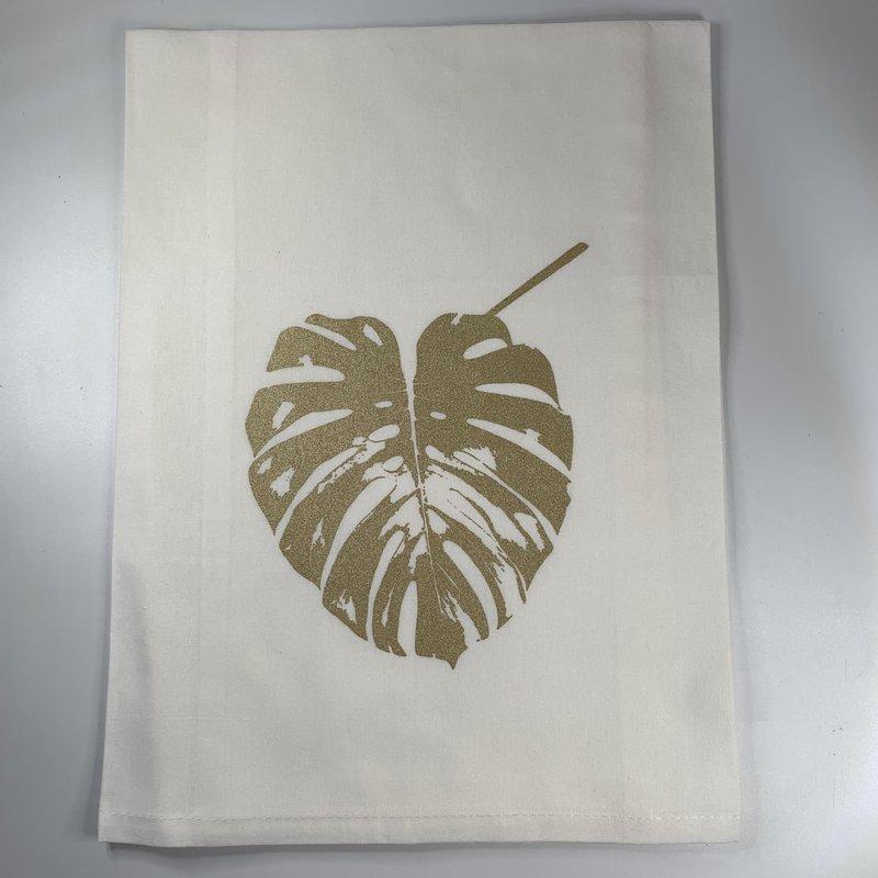Monique Perry Monique Perry Elephant Leaf Tea Towel- Gold