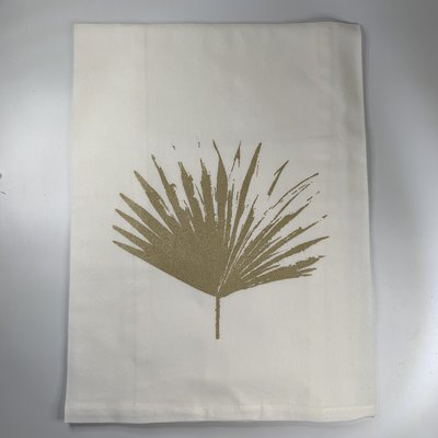 Monique Perry Monique Perry Palm Leaf Tea Towel- Gold