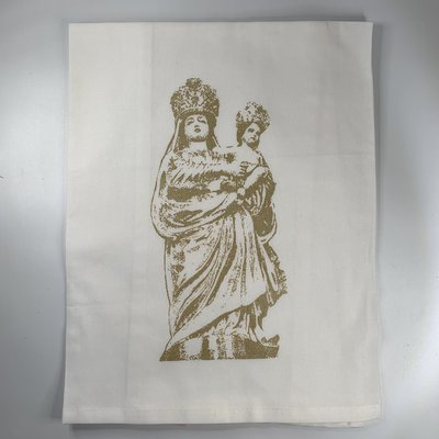 Monique Perry Monique Perry Our Lady of Prompt Succor Tea Towel