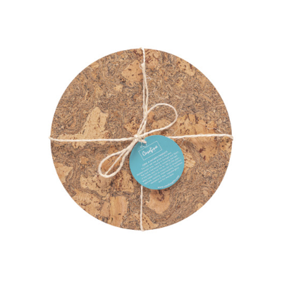 Casafina Set/ 4 Round Place Mats Cork Collection