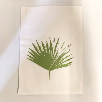 Monique Perry Monique Perry Palm Leaf Tea Towel- Green