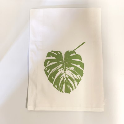 Monique Perry Monique Perry Elephant Leaf Tea Towel- Green
