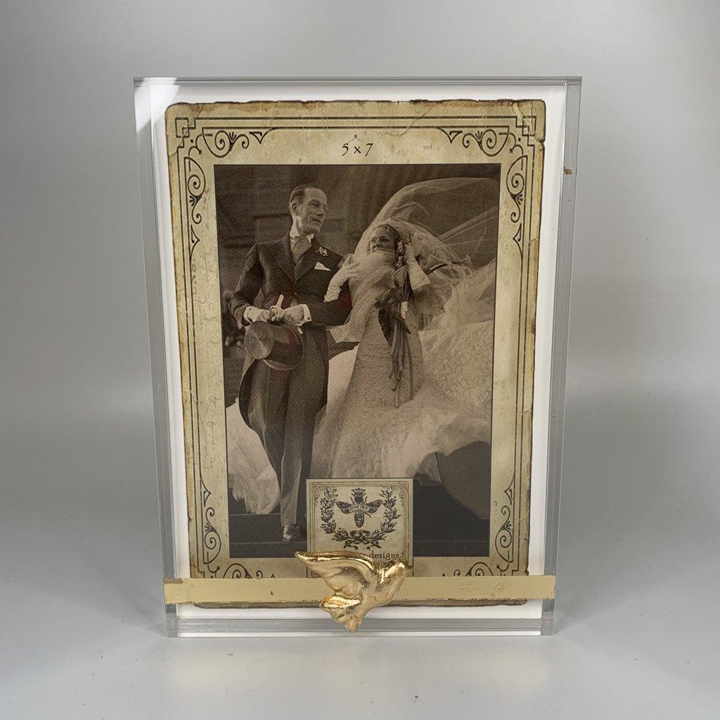 Susan Lange Acrylic Dove Frame 5x7