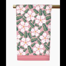 Honey and Hank Mississippi Magnolias Tea Towel- Blush