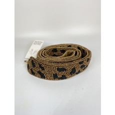 MOYNA Beaded Purse Strap- Gold/Black