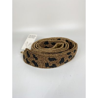 MOYNA Beaded Purse Strap- Gold/Black