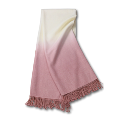Johanna Howard Home Dip-Dyed Throw (Dusty Rose)