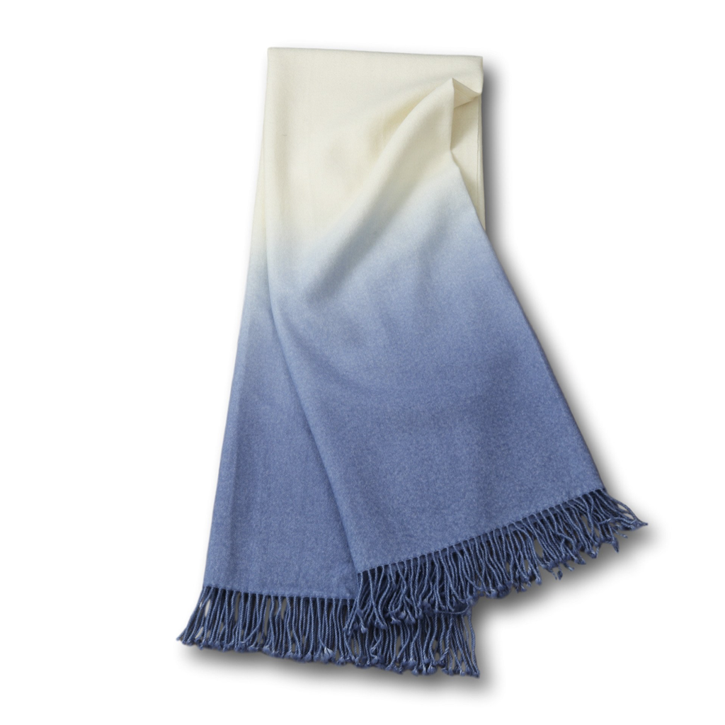Johanna Howard Home Dip-Dyed Throw (Periwinkle)