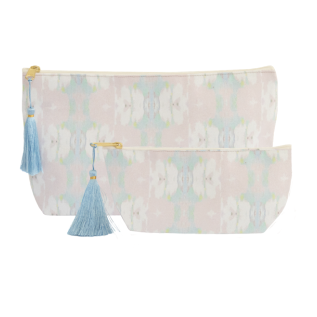 Laura Park Laura Park Butterfly Garden Blush Cosmetic Bag (12.5''x7'')
