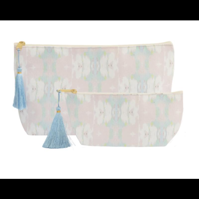 Laura Park Laura Park Butterfly Garden Blush Cosmetic Bag (12.5''x7'')