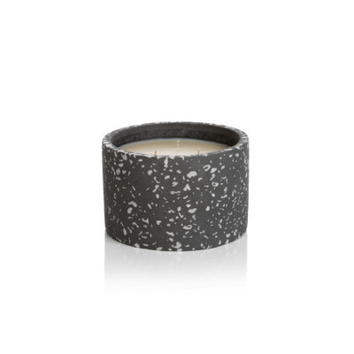 Zodax TERRAZO FRAGRANCED CANDLE-6X4-FIG VETIVER