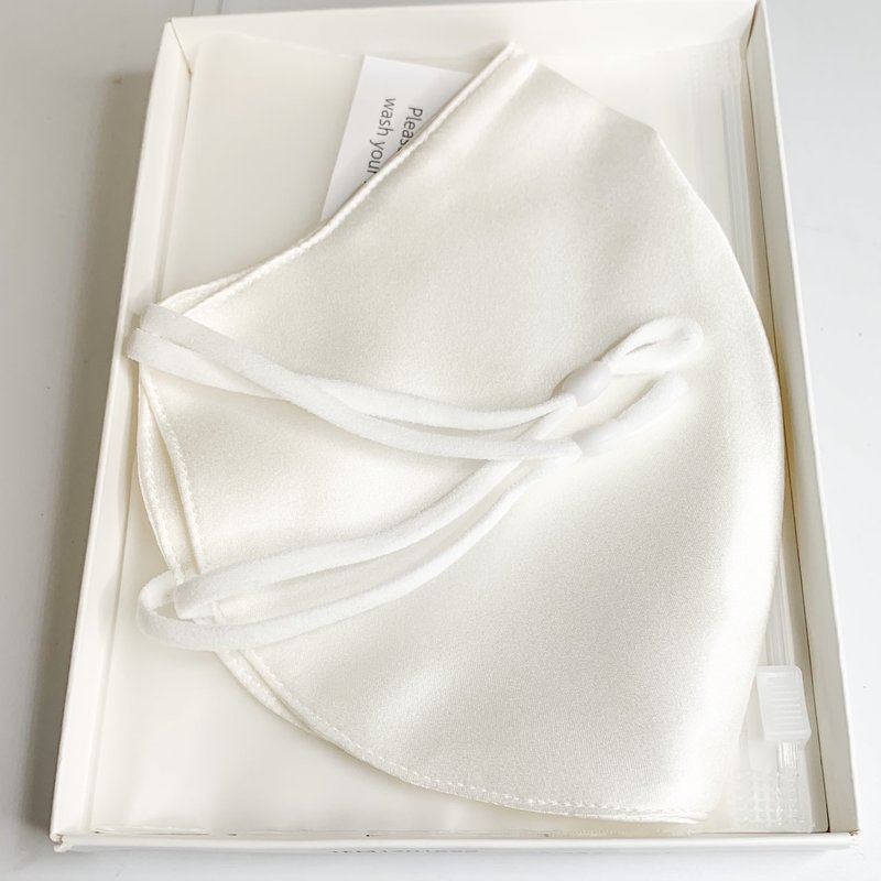Silk Story Face Mask - Silk Charmeuse - Bone