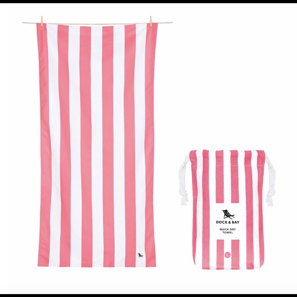 Dock & Bay QUICK DRY TOWEL - CABANA COLLECTION- KUTA PINK (65x31)''