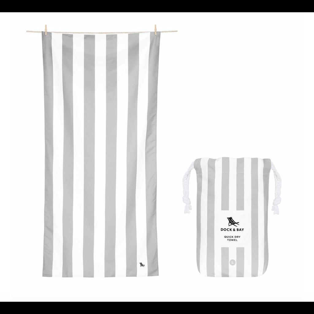 Dock & Bay QUICK DRY TOWEL - CABANA COLLECTION- LIGHT GREY (65x31)''