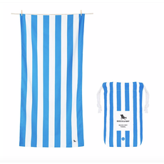 Dock & Bay QUICK DRY TOWEL - CABANA COLLECTION- BONDI BLUE (65x31)''