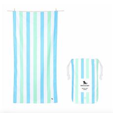 Dock & Bay QUICK DRY BEACH TOWEL - SUMMER COLLECTION- LIGHT BLUE/GREEN (65X31)''