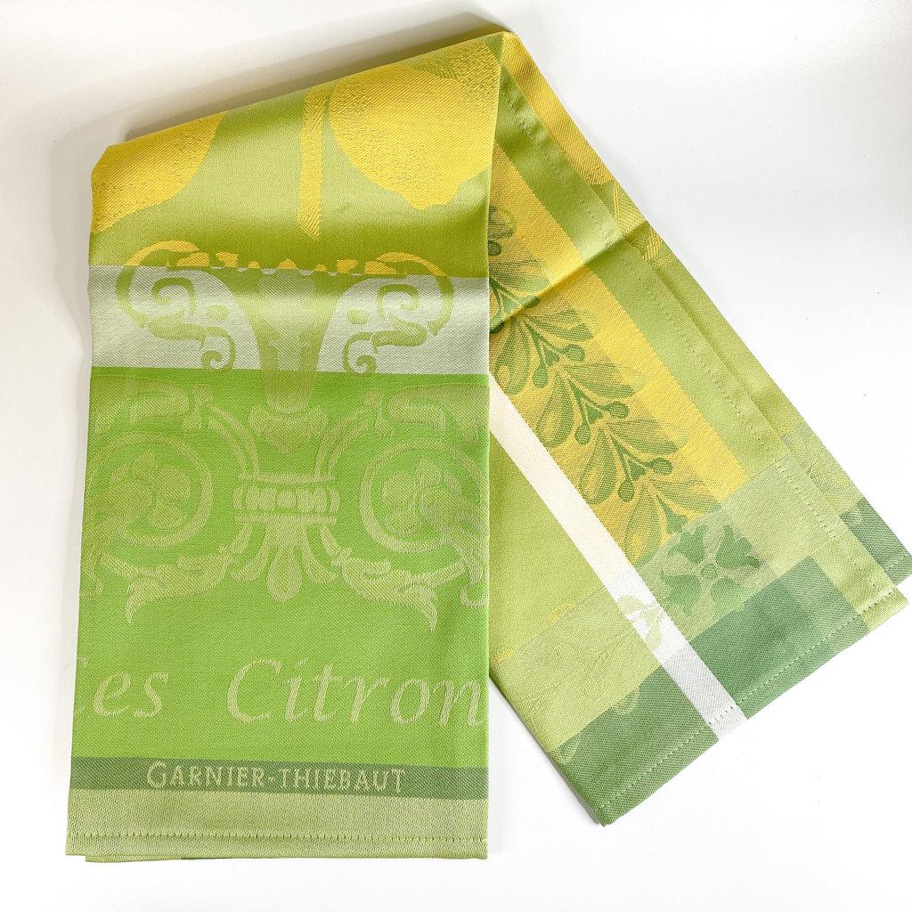 Garnier Thiebaut 'CITRON ZESTE Kitchen Towel 22''''x30'''', 56cmx77cm, 100% Cotton''