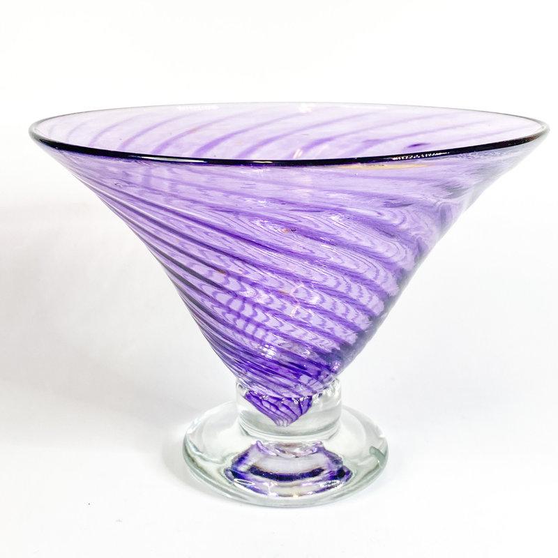 Ridge Walker Glass Ridge Walker Martini Glass Purple