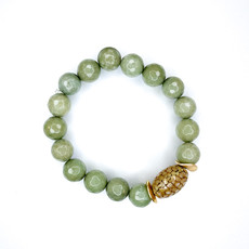 Laura McClendon Army green with stingray Bracelet
