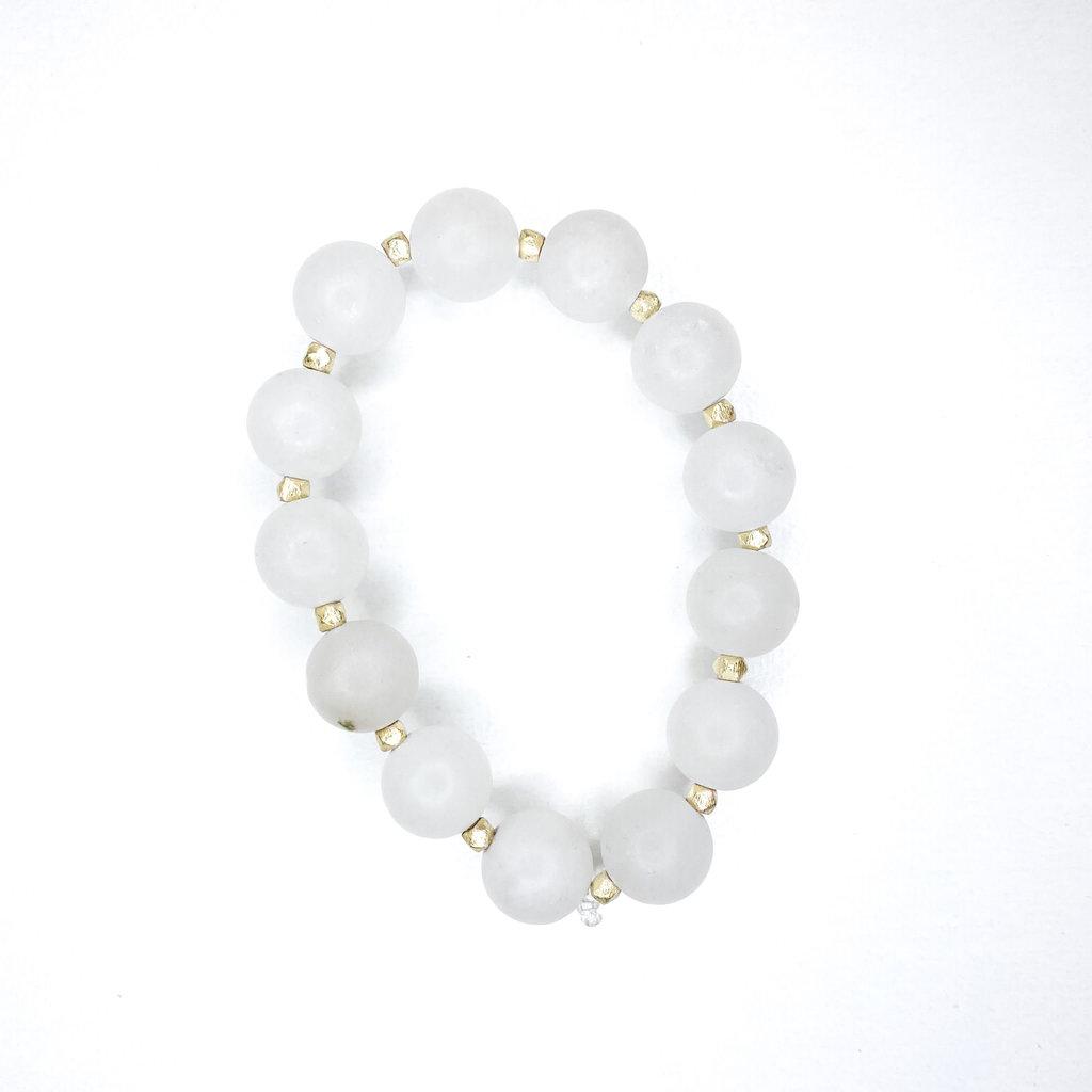 Laura McClendon White with beads Bracelet