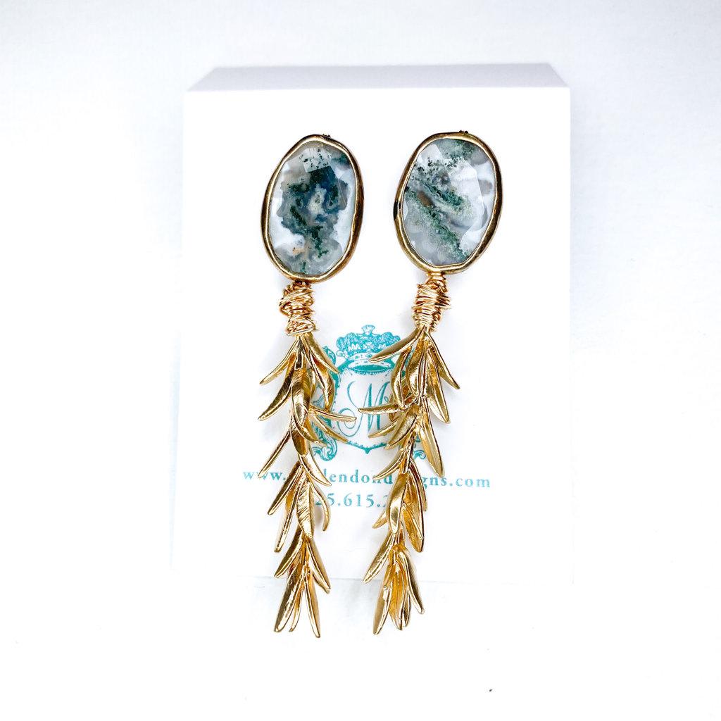 Laura McClendon Branch Stone Earring