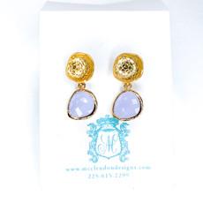 Laura McClendon Broadway Light Purple Earring