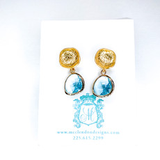 Laura McClendon Broadway Teal Earring