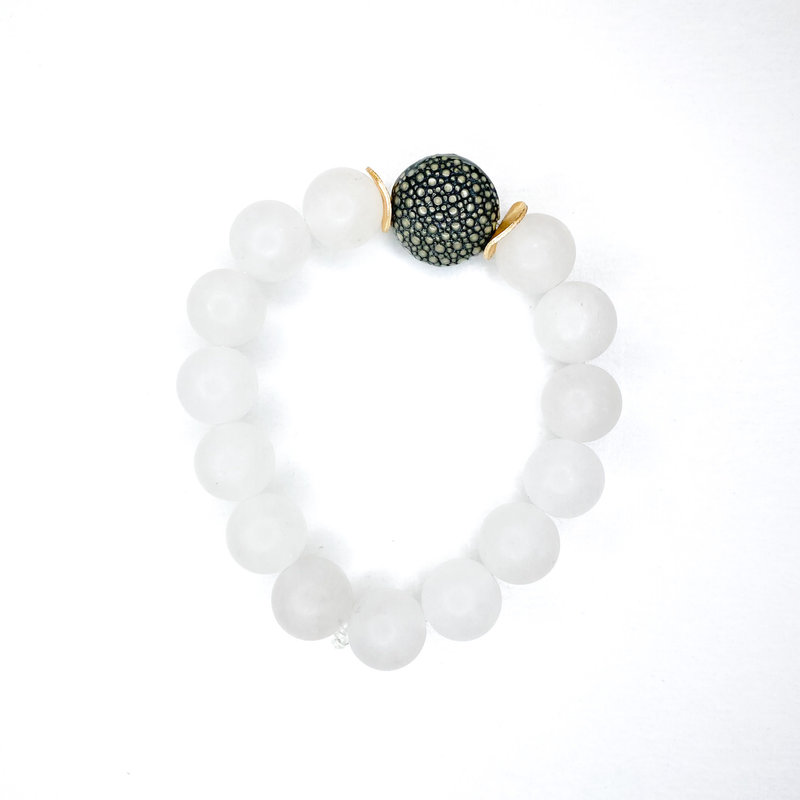 Laura McClendon Stingray White Bracelet