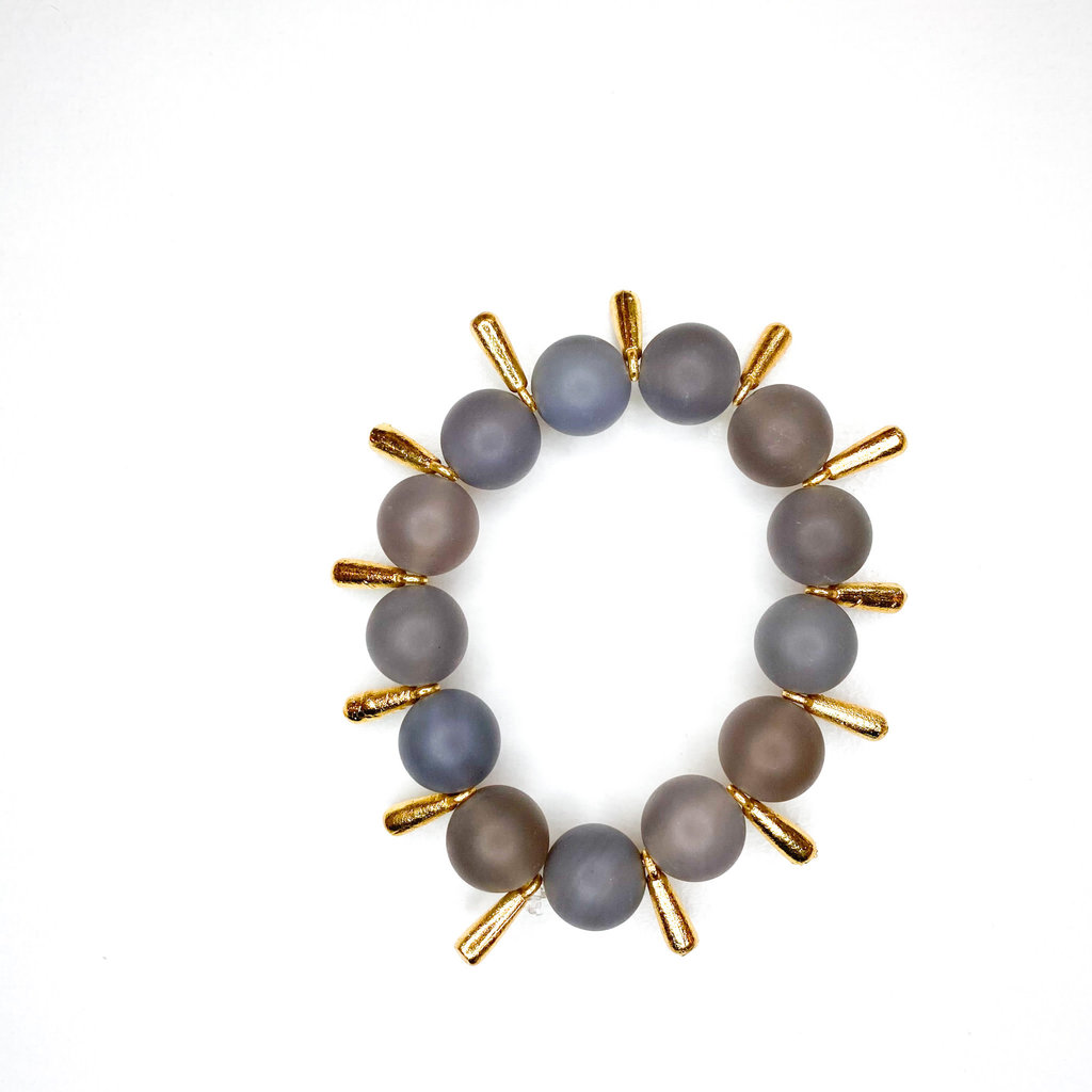 Laura McClendon Matte Gray with Spikes