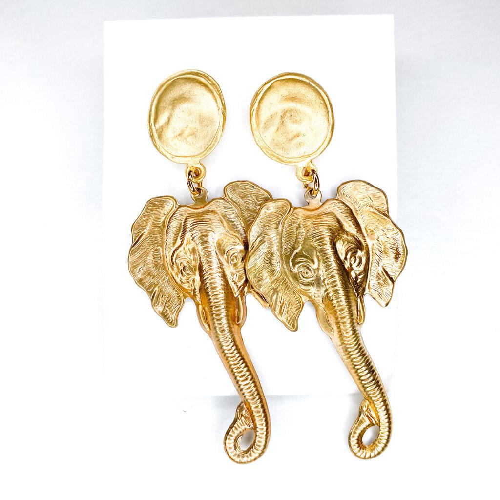 Laura McClendon Elephant Earring
