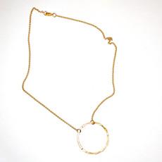 Laura McClendon Gold Circle Necklace