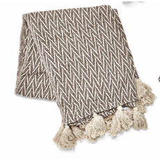 Two's Company Terra Throw w/ Tassels- design 2