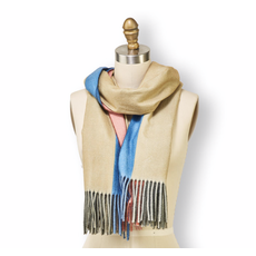 Two's Company Multicolor Scarf with Fringe- design 2