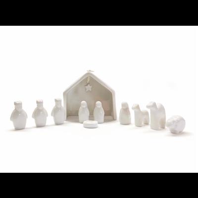 Two's Company 11 pc Miniature Nativity Set in Gift Box