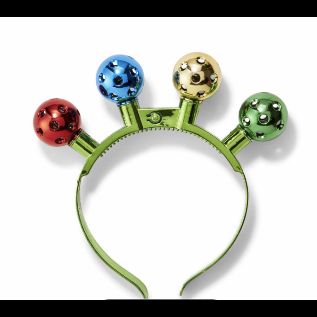 Two's Company Jinglebells Headband with LED Lights