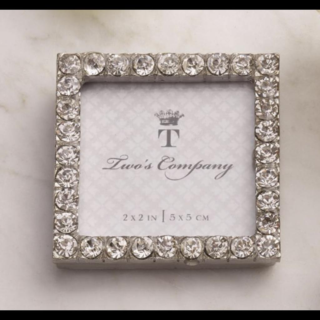 Two's Company Diamond Mini Frame- square
