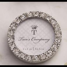Two's Company Diamond Mini Frame- circle
