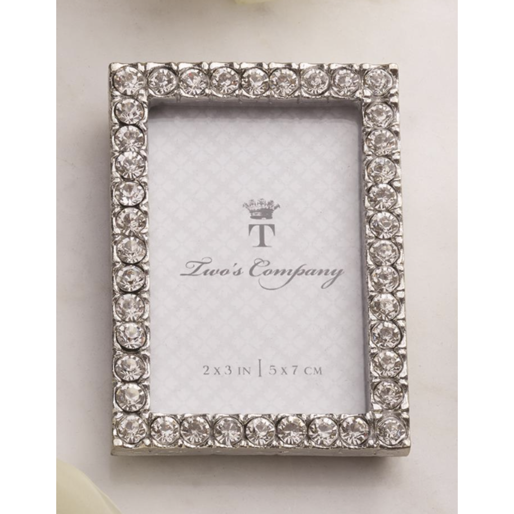 Two's Company Diamond Mini Frame- rectangle