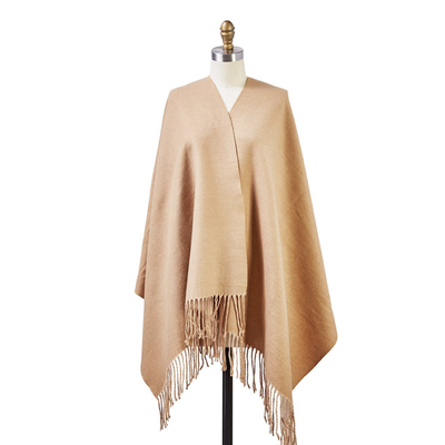 Two's Company Reversible Cashmere-Like Scarf/Shawl (camel)