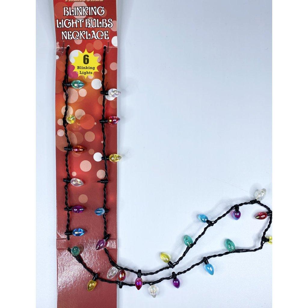 d&d distributing Blinking Light Bulb Necklace