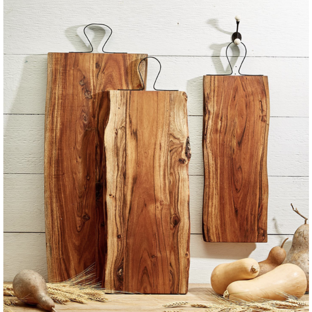Two's Company Medium Serving Board with Iron Handle