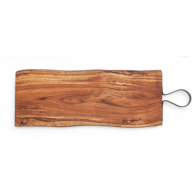 Two's Company Large Serving Board with Iron Handle