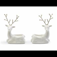 Two's Company Festive Reindeer Tealight Candleholder
