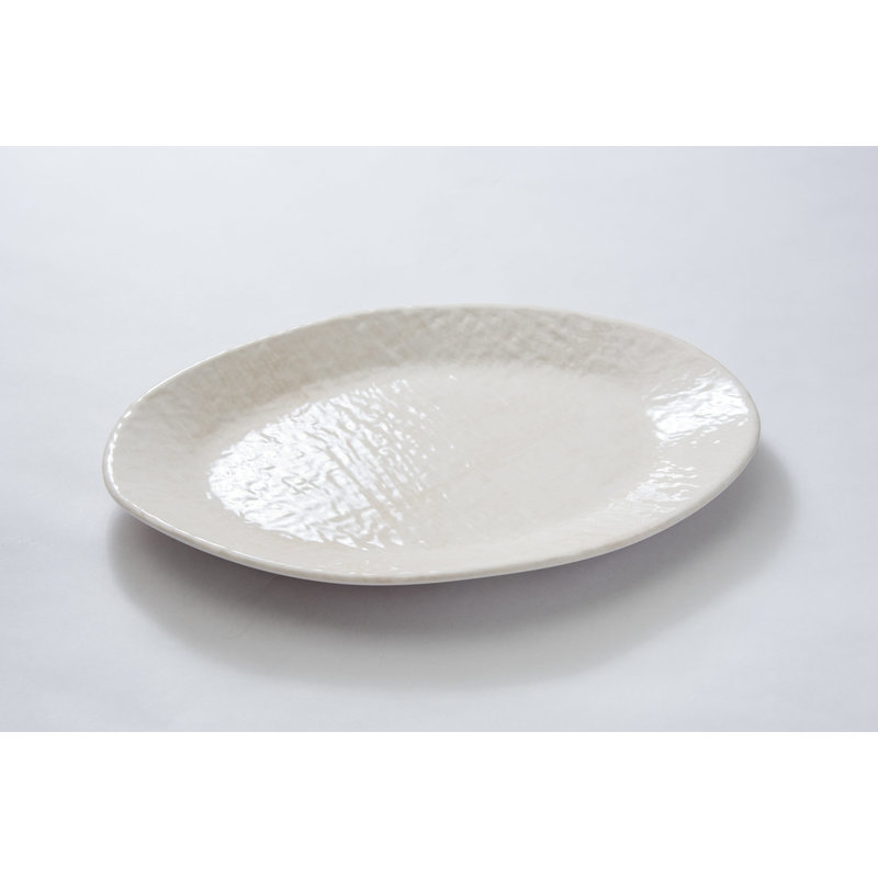 Relish Weave Cream Serving Oval