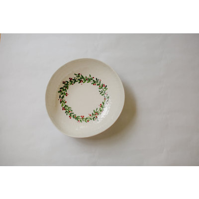 Relish Christmas Wreath Serving Bowl